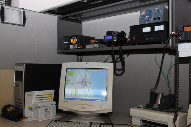 This station handles APRS and beam we use to communicate with other counties. (2011)